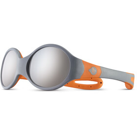 Julbo Loop L Spectron 4 Occhiali da sole Bambino, grey/orange/grey flash silver